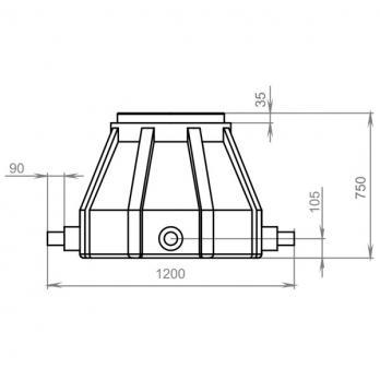 Колодец кабельной канализации ККТ-1 ( ККС )