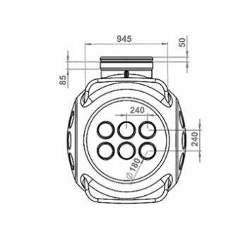 Колодец пластиковый кабельный ККТ-2