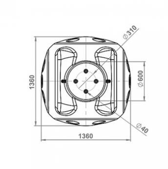 Колодец пластиковый кабельный ККТ-2 с металлокаркасом