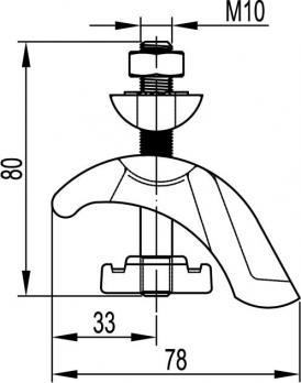 Закрывающая струбцина М10 CM301001
